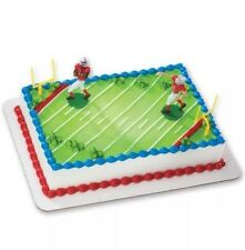 NEW NEW NEW Football DecoSet Cake Decoration same Kits Used By Kroger / Wal-Mart