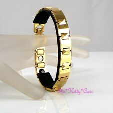 Magnetic Tungsten CTS RSI Arthritis Pain Relief Ladies Mens 24K Gold Pl Bracelet