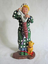 Dept 56 All Through The House Christmas Figurine by Sue Ellen Lady Cat Stocking