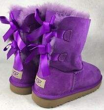 Ugg Australia Bailey Bow Electric Violet Purple 3280Y size 5 fits 7 womens