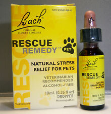 RESCUE REMEDY PET * BACH *  10ml  Natural Stress Relief Drops * Flower Essences