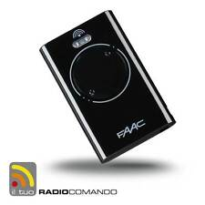 Radiocomando apricancello originale FAAC XT2 433 SLH Nero modello MASTER