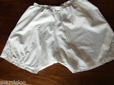 vIntage culotte PANTY short coton fin decor au filets jours@old clot