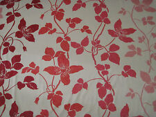 "DESIGNERS GUILD CURTAIN FABRIC ""Sevilla"" 2.2 METRES 100% COTTON GERANIUM (220 CM"