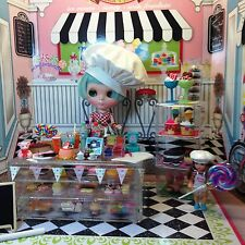 Dollhouse Barbie Blythe Playscale 1/6 Bistro Bakery ROCK CANDY Ice Cream Case