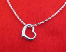 9 1/2 INCH 14KT WHITE GOLD EP SMALL ROPE ANKLET WITH THIN FLOATING HEART
