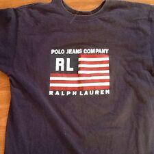 Vintage Ralph Lauren Polo Jeans T Shirt Size S USA Flag