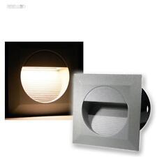 5x LED Wandeinbauleuchten Wandeinbaustrahler Treppenleuchten Außen & Innen 230V