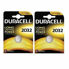 2 X Duracell CR2032 3V Lithium Button Battery Coin Cell DL2032 Expiry 2022+