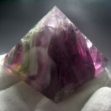 Rainbow Fluorite Crystal Pyramid Carving-flpd0082