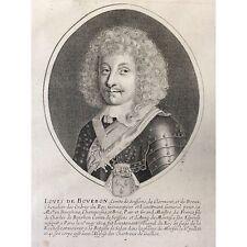 Louis de Bourbon comte de Soissons seigneur de Condé Daret de Cazeneuve fin XVII