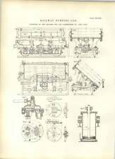 1893 Thacher Car And Construction New York Railway Dumping Car Plans Drawings