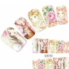 Tattoo Nail Art Aufkleber Japan Anime Geisha Manga Water Decall Neu!