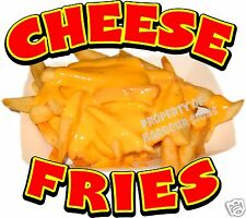 "Fries Cheese Concession Decal 12"" Food Restaurant Menu"