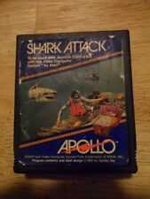 VINTAGE SHARK ATTACK VIDEO GAME FOR ATARI BY APOLLO--1982