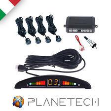 KIT 4 SENSORI DI PARCHEGGIO CON DISPLAY LED E BIP SONORO COLORE NERO
