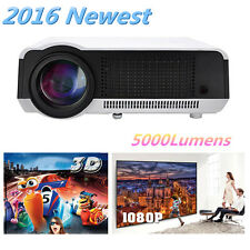 5000 Lumens HD 1080P 3D LED LCD TV Home Theater projector Multimedia HDMI USB