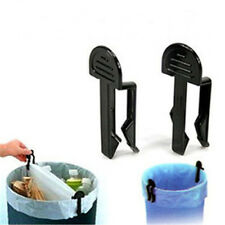 TOP Quality FA7TION 2Pcs Garbage Can Waste Bin Trash Can Bag Clip Holder 7T