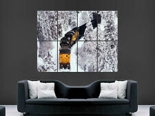 TRAIN IN THE MOUNTAINS SNOW WINTER COLD ART IMAGE LARGE POSTER PRINT GIANT