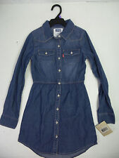 Levi's Girls Light Denim Long Sleeve Dress US Size 12 NWT