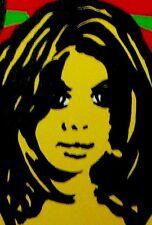 Big 4x2 ft. Action Packed Woman POP ART Painting by Chris P Jones / Pix E Stix