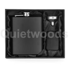 Matte Black 7oz Flask + Lighter + Funnel + Gift Box