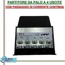 PARTITORE DA PALO A 4 USCITE CON PASSAGGIO DI CORRENTE CONTINUA