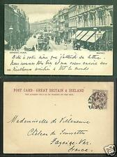 Belfast Donegall Place Shops Northern Ireland stamp 1899