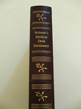 WEBSTER'S MEDICAL DESK DICTIONARY Leather Bind, Gold Gilt Edged, 1986 Edition