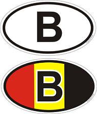 1 2 x 7 cm Signe distinctif Belgique autocollant de voiture Bike Caravan Bus