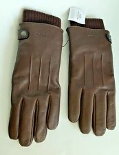 Coach Brown Leather Gloves men Size L New with tags USA Seller