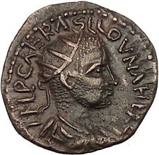 VALERIAN I Senior 253AD Antioch in Pisidia Legionary Eagle Roman Coin i53246