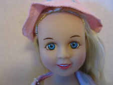"TBKI 16"" Doll Long Blonde Hair Blue Eyes Fully Dressed Hello Kitty Clothes 2000"