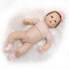"""52cm/21"""" Reborn Baby Doll Girl Doll Lifelike Half vinyl body /without clothes"""