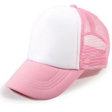 Baby Baseball Caps Summer Girls Boys Blank Foam Mesh Hats for 3-8 Years CN
