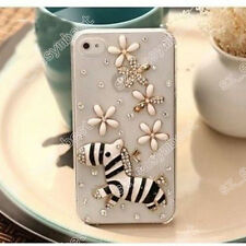 3D Clear Phone Case Cover Hard Bling Jewelled Crystal Diamonds Rhinestone Skin