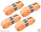 4 x Karakal Tribal Super PU Replacement Grips - Tennis - Squash Badminton Orange