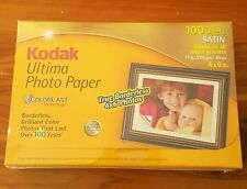 NIP Kodak Ultima Picture Paper 4x6 100 Sheets Satin COLORLAST TECHNOLOGY 100 YRS