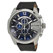 Diesel Mega Chief Navy Blue Dial Mens Chronograph Watch DZ4423