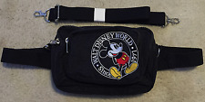 Walt Disney World Mickey Mouse Fanny Pack Black Adjustable Embroidered