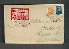 1930 Moscow RUSSIA USSR Graf Zeppelin LZ 127 Cover to Germany # C 13