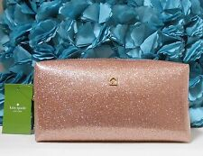 NWT Kate Spade Mavis Street Medium Davie Cosmetic Makeup Bag Rose Gold NEW $65