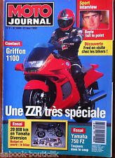 MOTO JOURNAL 27/05/1993; Griffon 1100/ Yamaha Diversion/ 750 FZ/ Interview Bayle
