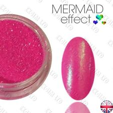 PINK MERMAID EFFECT NAILS ART POWDER DUST GEL HYBRID ACRYLIC Efekt Syrenki Róż