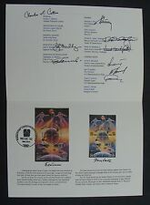 1992 Space stamp First Day of Issue commemorative piece SIGNED 10 NASA Related