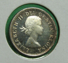 1958 Canada 10 cents proof like cameo