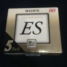 SONY 5MDW80M ES Minidisc 80 MIN 5 Disc- 1 Pack Sealed RARE