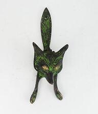 Vintage Reproduction Beautiful Brass Black Green Wild Fox Door Knocker HomeDecor