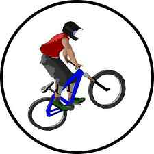 BMX Motto Cross Freestyle Bicycle Bike Racing Motorcycle 25mm Button Pin Badge.