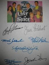 Lost in Space Cast Signed 1966 TV Script Guy Williams June Lockhart Bill Mumy RP